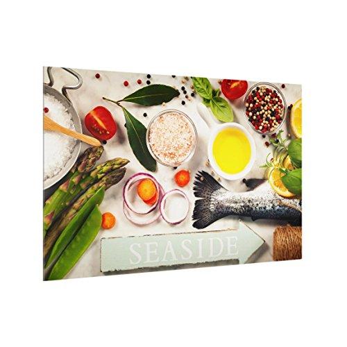Bilderwelten Panel antisalpicaduras de Cristal - Seaside - Horizontal 2:3, Panel antisalpicaduras...