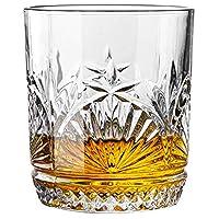 XUDES ウイスキーグラス昔ながらのウイスキーグラスクリスタルダイヤモンドガラス製品、スコッチ用ウイスキータンブラー、バーボンウイスキー、カクテル、コニャック-豪華なギフトボックス付きロックグラス-#30