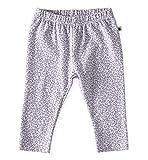 little label Leopard Baby Hose 62 Legging Bio-Baumwolle - grau Leopard Print - Slim fit