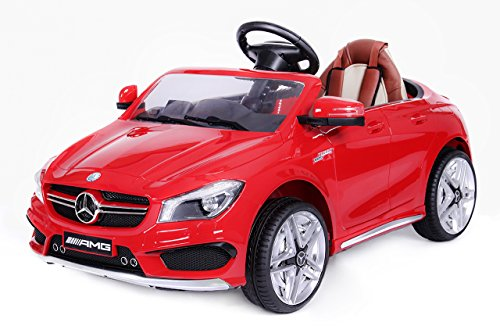 Mercedes CLA 45 AMG Elektroauto Kinderelektroauto Elektrofahrzeug. Farbe: Rot*