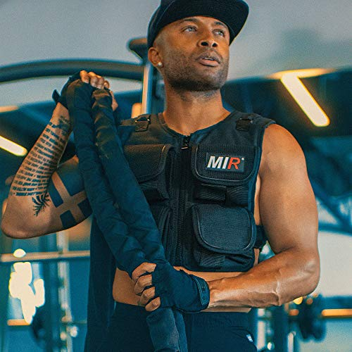 40 Lbs. Total, Increment 3Lbs. One Velcro belt included. All upgradeable individual packets can hold up to 60lbs. Double padding and lining throughout body and shoulder. Weights are loaded at top body front & back for optimum performance. MIR SECURE ...