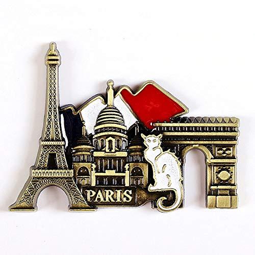 jiao World tour souvenir metal refrigerator paste 3d magnetic tour souvenir fridge magnet gift Paris