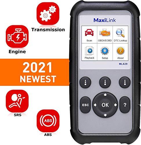 Autel ML629 OBD2-Diagnosegerät Kfz-Auslesegerät alle OBDII Dieselmotor Benzinmotor, Airbag Antiblockiersystem Motor Getriebe System Tiefe Diagnose, 14 Sprache Deutsche inkl.