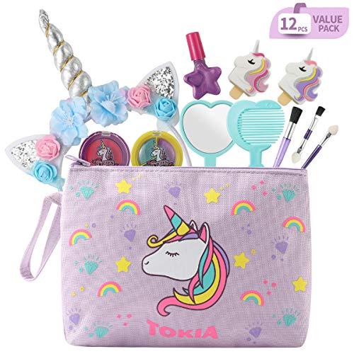 TOKIA Kids Makeup Kit for Girls with Cosmetic Bag(Unicorn...
