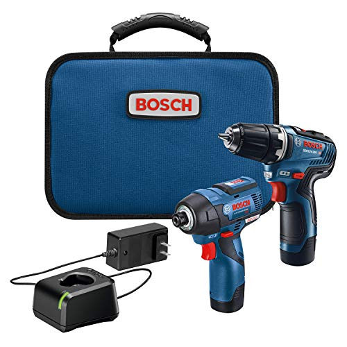 bosch electric drills BOSCH GXL12V-220B22 12V Max 2-Tool Brushless Combo Kit with 3/8 In. Drill/Driver, 1/4 In. Hex Impact Driver and (2) 2.0 Ah Batteries