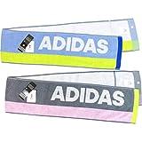 adidas(アディダス) スリムスポーツタオル 15×120cm 2枚組 高吸水性 肌触り優しいフルフィーコットン使用 Agフレッシュ(抗菌防臭)加工 SEK青マーク取得 スポーツ・アウトドアに最適 (ルナーク柄)