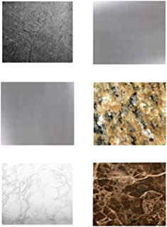 EZ FAUX DECOR Marble Granite Stainless Samples Self Adhesive Peel and Stick for Instant Kitchen Update. Easy to Remove Thick Durable Waterproof Heat Resistant Vinyl Laminate Film Why Paint? Not Contact Paper