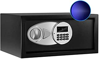 Sdstone Safe Box with Sensor Light,Money Safe Box with Key & Digital Lock for Home. Security Safe Box Wall or Cabinet Fixe...