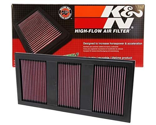 K&N 33-2985 Filtre à Air du Moteur: Haute Performance, Premium, Lavable, Filtre de Remplacement, Plus de Pouvoir, 2011-2017 (S400 Hybrid, E350, SLK, C350, E400, GLK350, ML350, E 400, autres modèles sélectionnés)