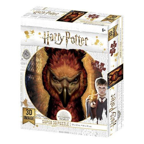 Prime 3D - Puzzle lenticolare Harry Potter Fawkes, 300 pezzi (effetto 3D)
