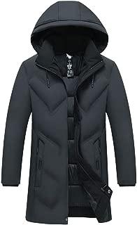 NIUQI Fashion Men's Autumn Winter Casual Pocket Button Down Jacket Top Coat