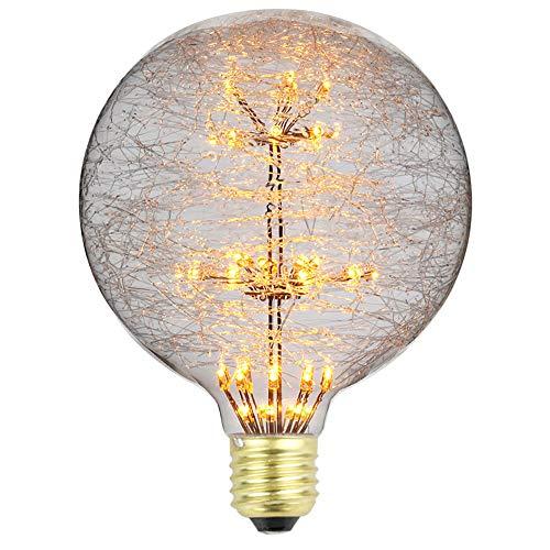 Bombillas LED Tianfan de estilo vintage, para chimenea, luz de luna, bombillas RGB de luz blanca cálida, 3 W, 220/240 V, E27, vidrio, E27, 3.0W 230.00V