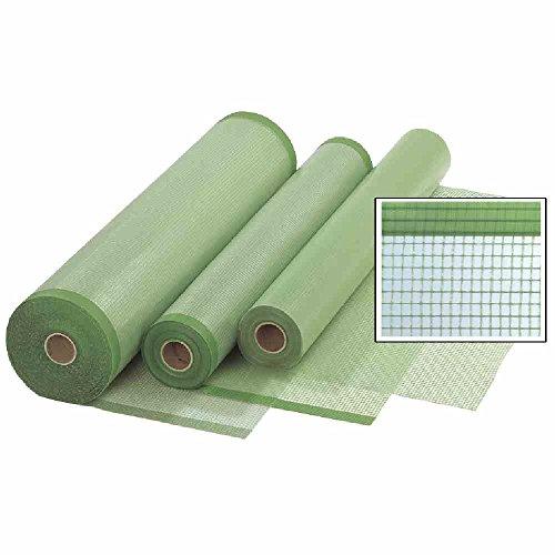 Gitterfolie Gitterplane mit beidseitigem Nagelrand 1,5 x 50 m Rolle grün-transparent mit Gitterarmierung, UV-stabilisiert, ca. 260 g/m²