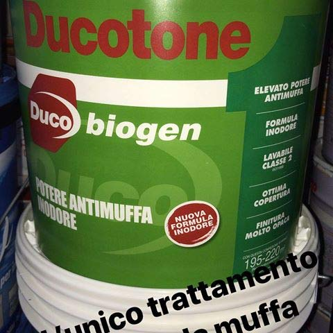 PITTURA MURALE IDROPITTURA ANTIMUFFA ANTIALGA DUCOTONE BIOGEN Lt 13