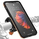 Morpheus M4s Fahrradhalterung iPhone XS Max - Handyhalterung Fahrrad iPhone XS Max - Halterung & iPhone XS Max Hülle magnetisch, DropTest, mit Quick Lock, Bike Kit passend für meisten Lenker orange
