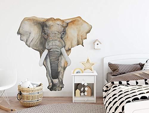 Wandtattoo Aquarell Elefant Wandsticker Afrika Dekoration Safari Tiere