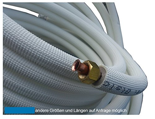 4m Kupferleitung 1/4 + 3/8 Zoll doppel Kältemittelleitung