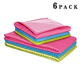 DOZZZ Millennium Kitchen Set,3 Pcs of Microfiber Scrubber Cloth and 3 Pcs of Kitchen Waffle Towel, Kitchen Cleaning Cloths, Set of 6 Pack