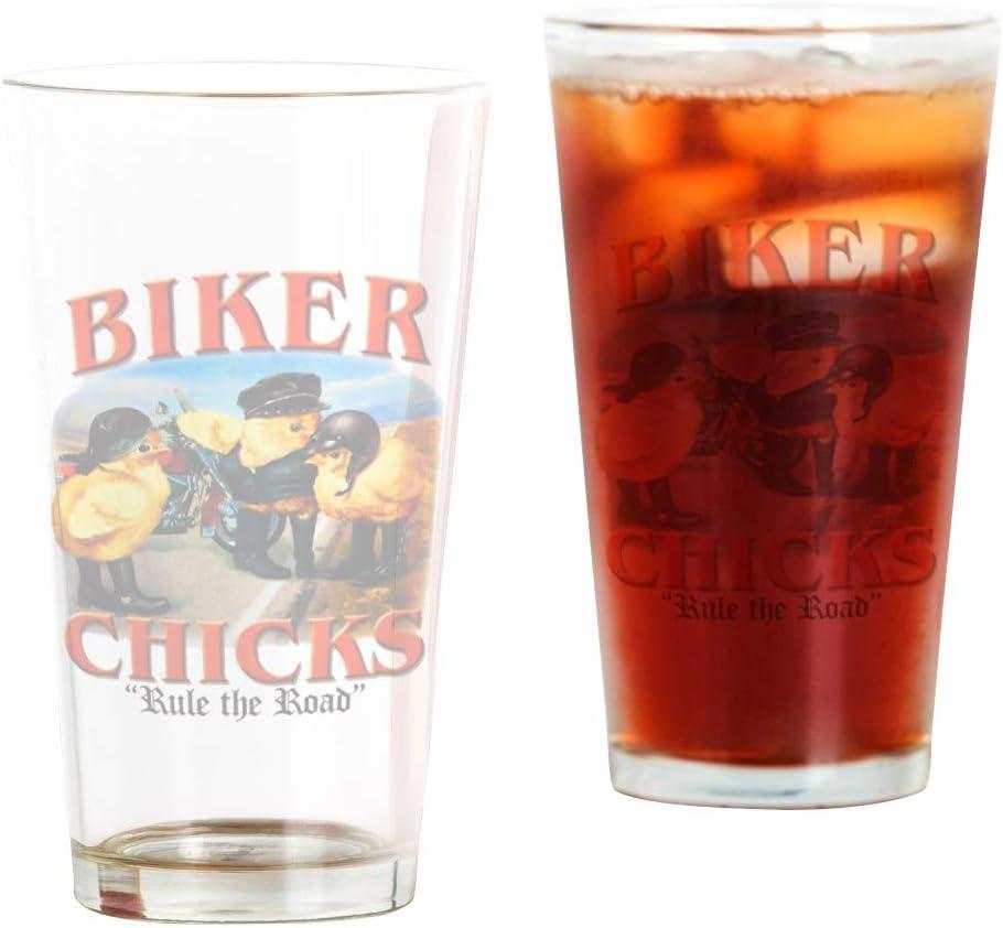 Pint Drinking 2021 model Glass Biker Chicks 4 years warranty Rule Girls Women Road