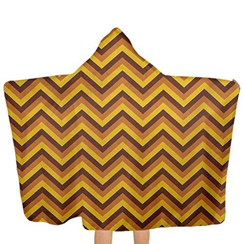 YHGFR Kids Hooded Strandtuch Tropical Juicy Pine Pattern auf einfachem geometrischen Hintergrund Swim Pool Coverup Poncho Cape Verwendung für Bad/Pool/Beach Swim Coverups Ringelblume Senfgrün 51,