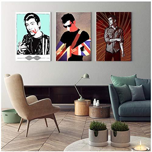 Flamenco - vibrante bailarina española impresiones en lienzo Arte de la pared Impresión de la lona Cartel de la pared Arte Decoración Pegatina Brillante 20x28 pulgadas 1pcs Sin marco