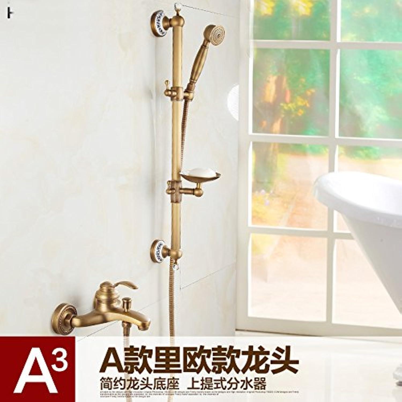 AGECC Beste Wahl Duschbad Set Feine Bronze Antike Badewanne Wasserhahn Mit Hubstange Und Einfache Dusche Set C