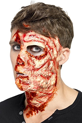 Smiffy's-27742 Miffy Cicatriz de cara quemada, látex, con adhesivo, color carne, Tamaño único (27742) , color/modelo surtido