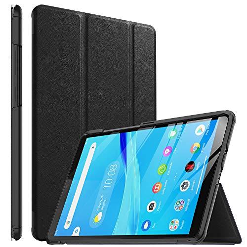 ELTD Hülle für Lenovo Tab M8 HD,Ultra Lightweight Flip mit Ständer & Eingebautem Magnet Hochwertiges PU Leder Schutzhülle für Lenovo Tab M8 HD 2019 8 Zoll Tablet (Schwarz)