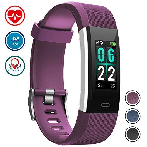 WOWGO Montre Connectée, IP68 Etanche Bracelet Connecté Fitness Tracker Podometre Moniteur de Fréquence Cardiaque Smart Watch pour Android iOS