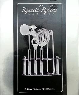 Kenneth Roberts Platinum 5-piece Stainless Steel Bar Set