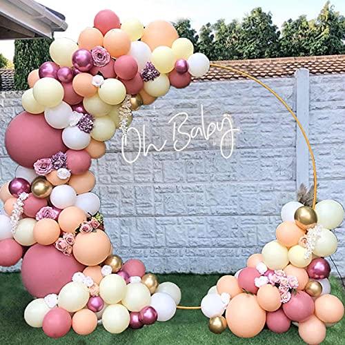 APERIL 98 Piezas Kit de Guirnaldas con Globos, Kit de Arcos de Globos Rosa y Dorados Flores Decorativas Dorado Globos Para cumpleaños Decoración de Boda de Graduación de Baby Shower