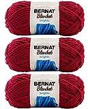 Bulk Buy: Bernat Blanket Yarn (3-Pack) Super Bulky #6 5.3 Ounce 108 Yards Per Skein (Race Car Red)