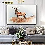 KWzEQ Imprimir en Lienzo Cartel de Fotos de Cervatillo y Arte Decorativo para Sala de estar60x90cmPintura sin Marco