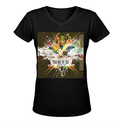 You Me at Six Hold Me Down Premium Cotton Damen V Neck T-Shirt Large