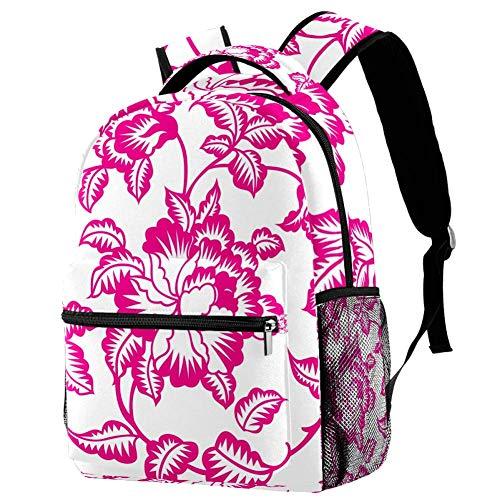 TIZORAX Rucksack Papier Schnittmuster Kultur Schultasche Rucksack Reise Casual Daypack für Frauen Teenager Mädchen Jungen
