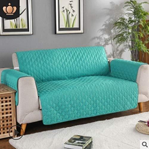 CC.Stars Protector de Muebles para Sala de Estar,Funda de sofá para Sala de Estar, Funda Protectora de sofá, sillón sofá CamaFundas reclinables-Verde Menta_3 Asiento (190x196cm) _