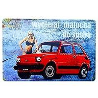 モーターオイルヴィンテージメタルポスターサイントラック車バス販売サービス装飾ウォールステッカー装飾20x30cm#15