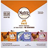 Nutro Perfect Portions Grain Free Natural Pate Recipes Variety Pack Adult Wet Cat Food, 3.97 lbs., Count of 24