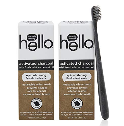 Hello Oral Care Activated Charcoal Whitening Fluoride Toothpaste