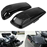 XMMT Coperchi per altoparlante Harley Touring Road King Street Electra Road Glide 2014-2020 in plastica ABS nero lucido 12,7 x 17,8 cm