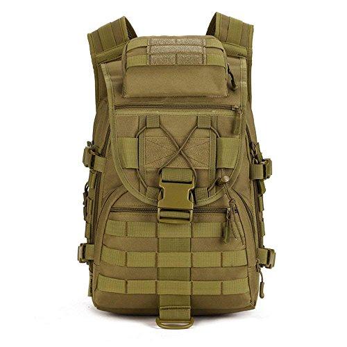 Greenpromise Sac à dos tactique de trekking résistant à l'eau pour militaires/armée/combat avec système de fixation Molle 40 L, kaki