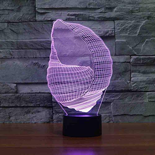 BJDKF lantaarn in de vorm van een bedlampje uit de Conca heeft de lantaarn in Variopinta Dell' sfeer, 3D als plank tafellamp Del Usb in de slaapkamer als cadeau voor de woning voor de slaap
