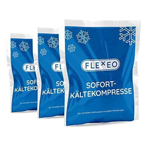 10 Stück FLEXEO Sofortkältekompresse 13 x 8 cm klein Sofort-Kältekompresse Kälte-Sofort-Kompresse Kühlpack Kühlakku Kältekompresse Kühlkompresse Instant Ice Bag Einmal Kühl-Kompresse Kühlpacks Quick