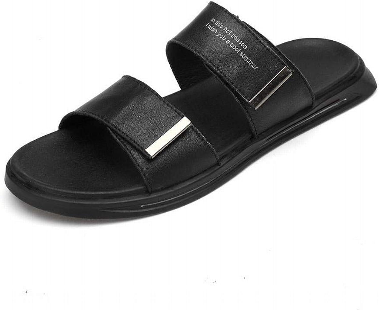 Men's Fashion shoes Leather Men's Sandals Men's Sandals Men's Leather Beach shoes Comfortable