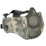 Hunting Explorer Masque Tactique de Demi-Masque Facial avec la Couverture d'oreille Airsof...