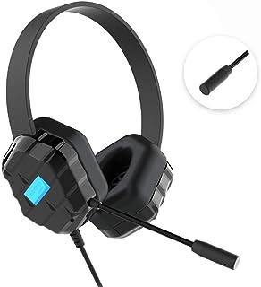 Gumdrop DropTech A1 - Auriculares de Diadema con Cable a Prueba de mordiscos, micrófono Integrado, Conector de Audio de 3,...