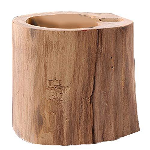 Fransande Portalápices de madera hecha a mano para escritorio, caja de almacenamiento de oficina, soporte de madera maciza para manualidades
