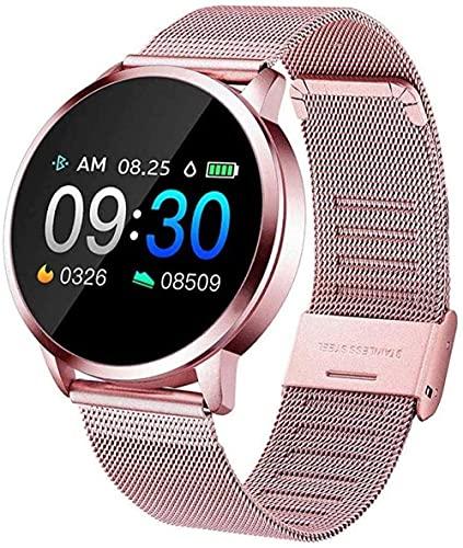MHPO Rastreador de actividad de fitness, reloj inteligente, función Bluetooth, frecuencia cardíaca, presión arterial, oxígeno en la sangre, detección del sueño, información de empuje