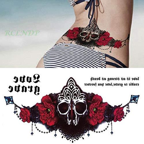 ljmljm 4 Piezas Impermeable Tatuaje Pegatina Reloj Flor Cristal ...