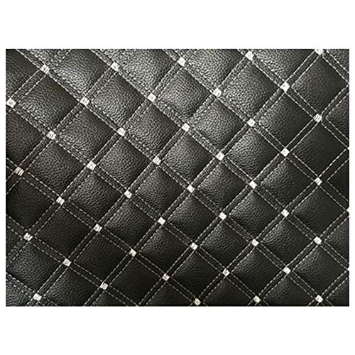 NXFGJ Leder Stoff PU Gesteppter Kunstleder Stoff 137x100cm , Stickerei Leder Stitch Gepolstert Kissen Schwamm Stoff Soft Bag, für Autodach und Sitz Renovierung (Color : Black2)